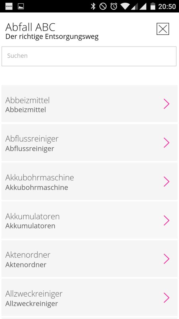 RHE MyMüll App